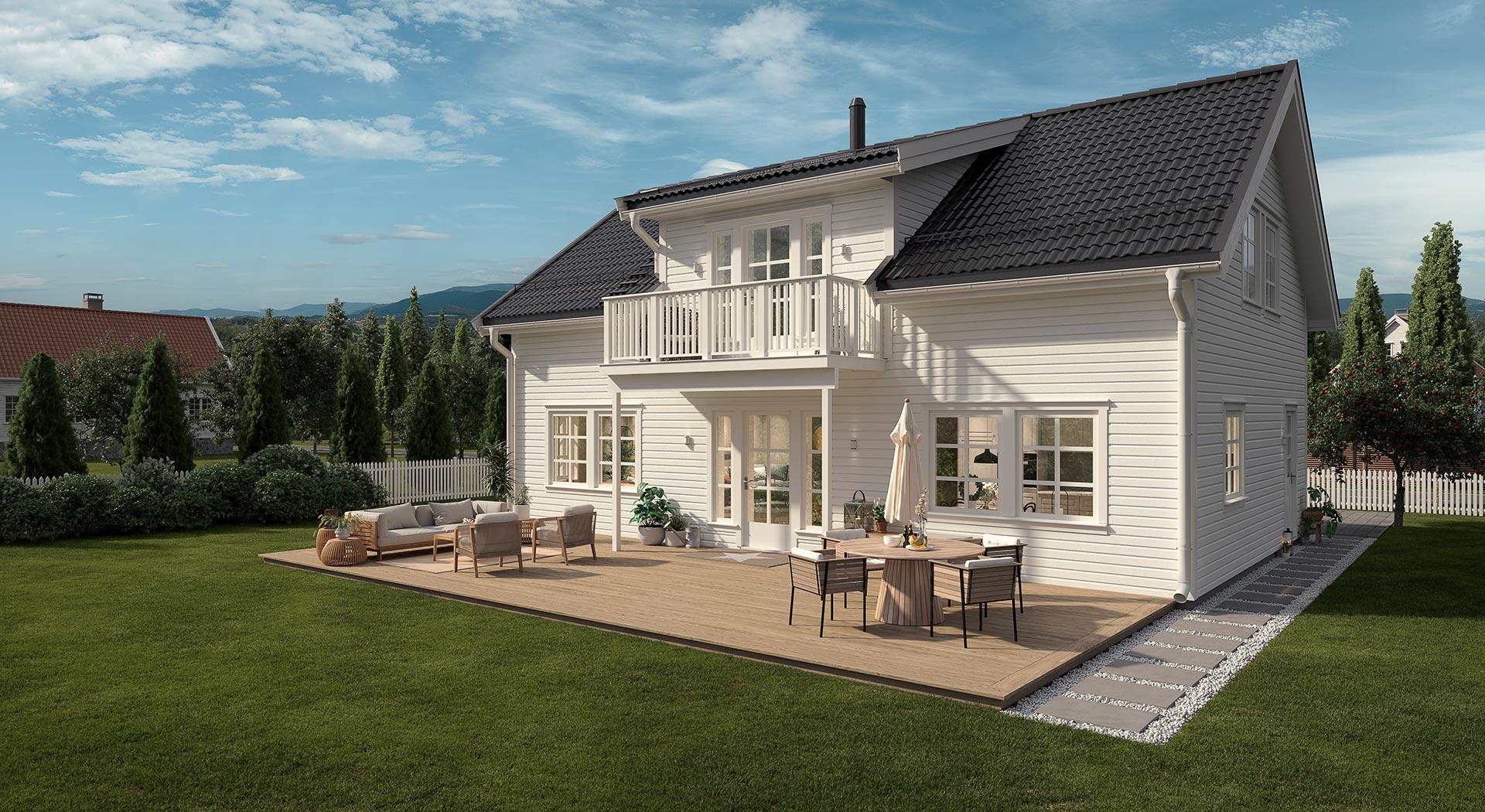 En klassisk og tradisjonell bolig fra ABChus
